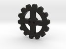 Cogwheel Button 01 in Black Strong & Flexible