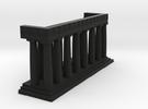 1:150 Parthenon Eastern Facade in Black Strong & Flexible
