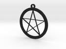 Pentagram Necklace in Black Strong & Flexible