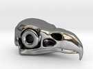 Eagle Skull in Polished Silver