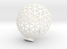 Geodesic Dome 6,1 2 in White Strong & Flexible Polished