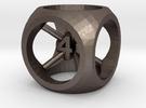 Truncated Sphere Dice in Stainless Steel