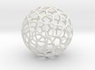 Alien Sphere Large (10cm) in White Strong & Flexible