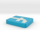 Facebook key charm in Full Color Sandstone