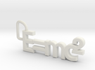 E = mc2 keyring in White Strong & Flexible