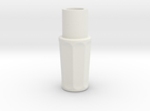 Sonic Screwdriver Grip - Matt Smith - Ceramic Matl in White Strong & Flexible