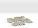 Quadratic Snowflake - 1 in White Acrylic