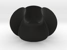 Enneper Minimal Surface Vase in Black Strong & Flexible