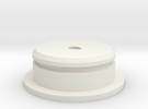 """D-Cell Battery Base 1.135"""" in White Strong & Flexible"""