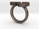 Love Emoticon Ring  in Stainless Steel