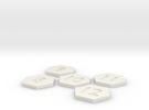 Number tiles 2of2 90mm in White Strong & Flexible