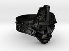 Neuromancer Avatar Ring (US Size 12) in Matte Black Steel