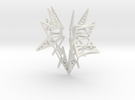 Lattice wing for shapeways in White Strong & Flexible