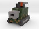 Voxel Light Tank in Full Color Sandstone