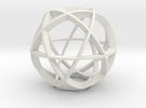 Icosidodecahedron (narrow) in White Strong & Flexible