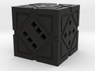 Hollow Holocron D6 in Black Strong & Flexible