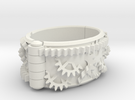 Gear bracelet in White Strong & Flexible