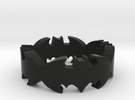 BATMAN  ring size 9,25 in Black Strong & Flexible