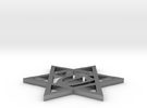 Star Of David Pendant in Polished Silver