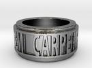 Carpe Noctem 2 Ring Size 7.5 in Premium Silver