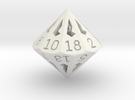 18 Sided Die - Regular in White Strong & Flexible