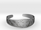 Bracelet Croix Celtique in Polished Silver