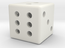 Hollow dice in White Strong & Flexible