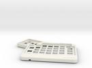 ErgoDox Top Left Case in White Strong & Flexible
