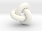 trefoil4 40mm in White Strong & Flexible Polished