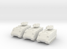 15mm Scorpion AFV (x3) in White Strong & Flexible