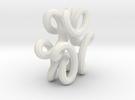 trefoilKnot 6loops in White Strong & Flexible