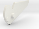 the beast 1/32 head Fin piece red alpha in White Strong & Flexible