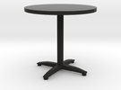 round bistro table in Black Strong & Flexible