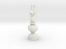 Smaller Staunton Knight Chesspiece in White Strong & Flexible