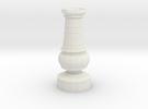 Smaller Staunton Rook Chesspiece in White Strong & Flexible