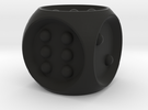 Braille Dice in Black Strong & Flexible