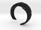VoronoiBracelet v020.5 Medium Rare (a stronger v02 in Black Strong & Flexible