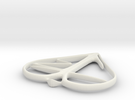bjheart 1inch in White Strong & Flexible