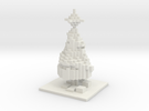 Minecraft Christmas Tree  in White Strong & Flexible