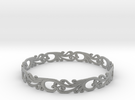 Silver Filigree Bracelet - Medium in Metallic Plastic
