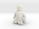 5.5cm Robot Toy in White Strong & Flexible