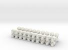 40 Skulls in White Strong & Flexible