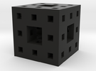 Itty Bitty Menger Sponge Pendant/Charm/Sculpture in Black Strong & Flexible