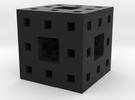 Itty Bitty Menger Sponge Pendant/Charm/Sculpture in Black Strong & Flexible