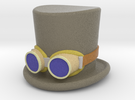 5cm D & R - Top Hat & Goggles - coloured in Full Color Sandstone