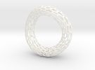Twisted Cell Bracelet in White Strong & Flexible Polished