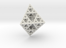 Rhombododecahedron Fractal in White Strong & Flexible