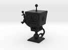 Cafe 51 - Sci-Fi Robot with Simple Base in Black Strong & Flexible