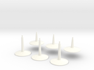 Flying Stands (6) in White Strong & Flexible Polished