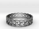 Rohkea Bold Celtic Knot Size 9 in Premium Silver